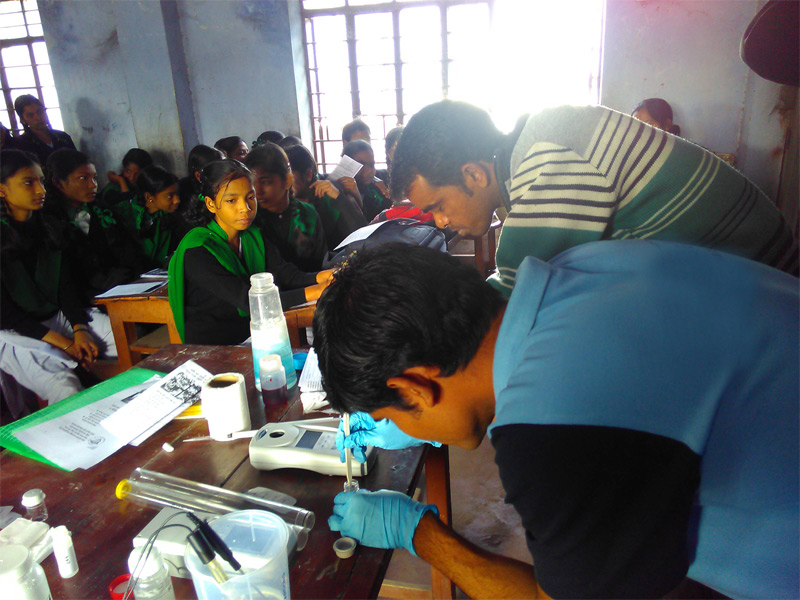 IEC (Information Education & Communication) Training provided by Water Quality Testing Team at Schools