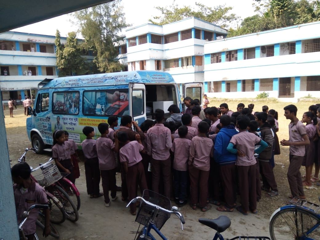 On-Field Water Quality Testing of Our Mobile Laboratory Van (MLV) at Schools